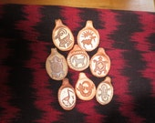 Collection of 8 Animal Rock Art Pendants