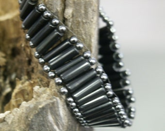 Super Grounding Black stone bracelet with Hematite