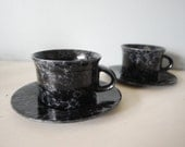 Set of 2 Bennington Potters Yusuke Aida Cups and Saucers