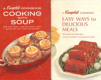 Campbell Soup 2 Vintage Cookbooks Homey Recipes Comfort Foods CrabbyCats, Crabby Cats