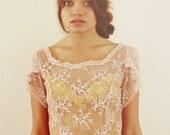Annabelle - Blush Lace Dress