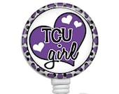 Retractable ID Badge Holder, Nursing Badge Holders, Nurse Badge Reels, ID Card Holder, TCU Girl