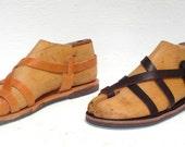 Greek handmade Roman leather sandals - NEW STYLE