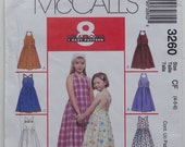McCalls 3260 Sewing Pattern Childrens Girls Sundresses Size 4, 5, 6  UNCUT