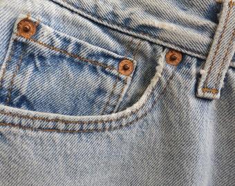 Light Cutoff Denim Shorts