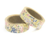 Liberty of London Fabric Masking Tape - Tatum in Yellow - Set 2