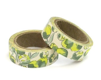 Liberty of London Fabric Masking Tape - Eliza's in Yellow - Set 2