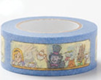 Colte Washi Masking Tape - Alice in Wonderland in Blue - Fairy Tale