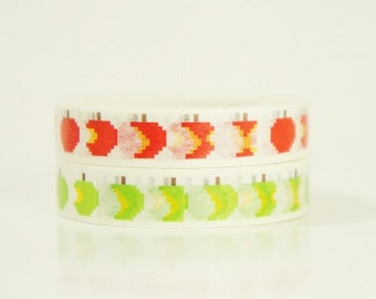 Funtape Masking Tape - Apples - Slim Set 2