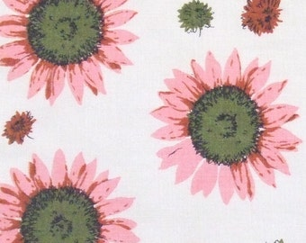 4 Linen Placemats with Pink Sunflowers