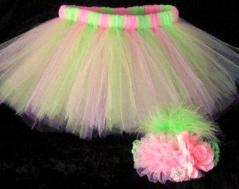 Tutu set you can choose your colors matching hair accessory