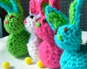 Easter Bunny, Chick, Crochet Jellybean Poopers, Set of Two