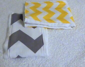 Chevron Burp Cloths - set of 2 - Your Choice