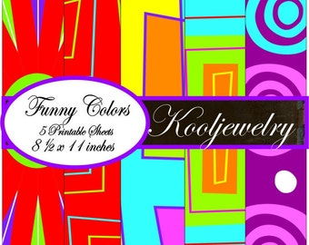 Funny Colors Paper Pack - No.74