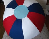 Fabric Beach Ball- Red, White & Blue