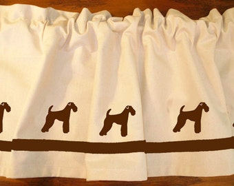 Airedale Terrier Dog Window Valance Curtain - Your Choice of Colors