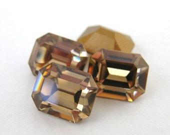 Swarovski Crystal Vintage Rhinestone Colorado Topaz Octagon Jewel 10x8mm swa0406 (4)