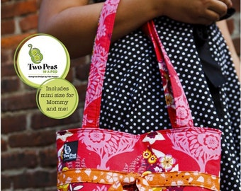 FREE SHIPPING --  Two Peas in a Pod Sprouts - Fit to be Tied Tote Pattern