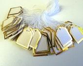 200 Gold Trim Jewelry Tags