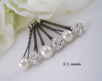 Set of 12 Elegance and Pearls Hairpins