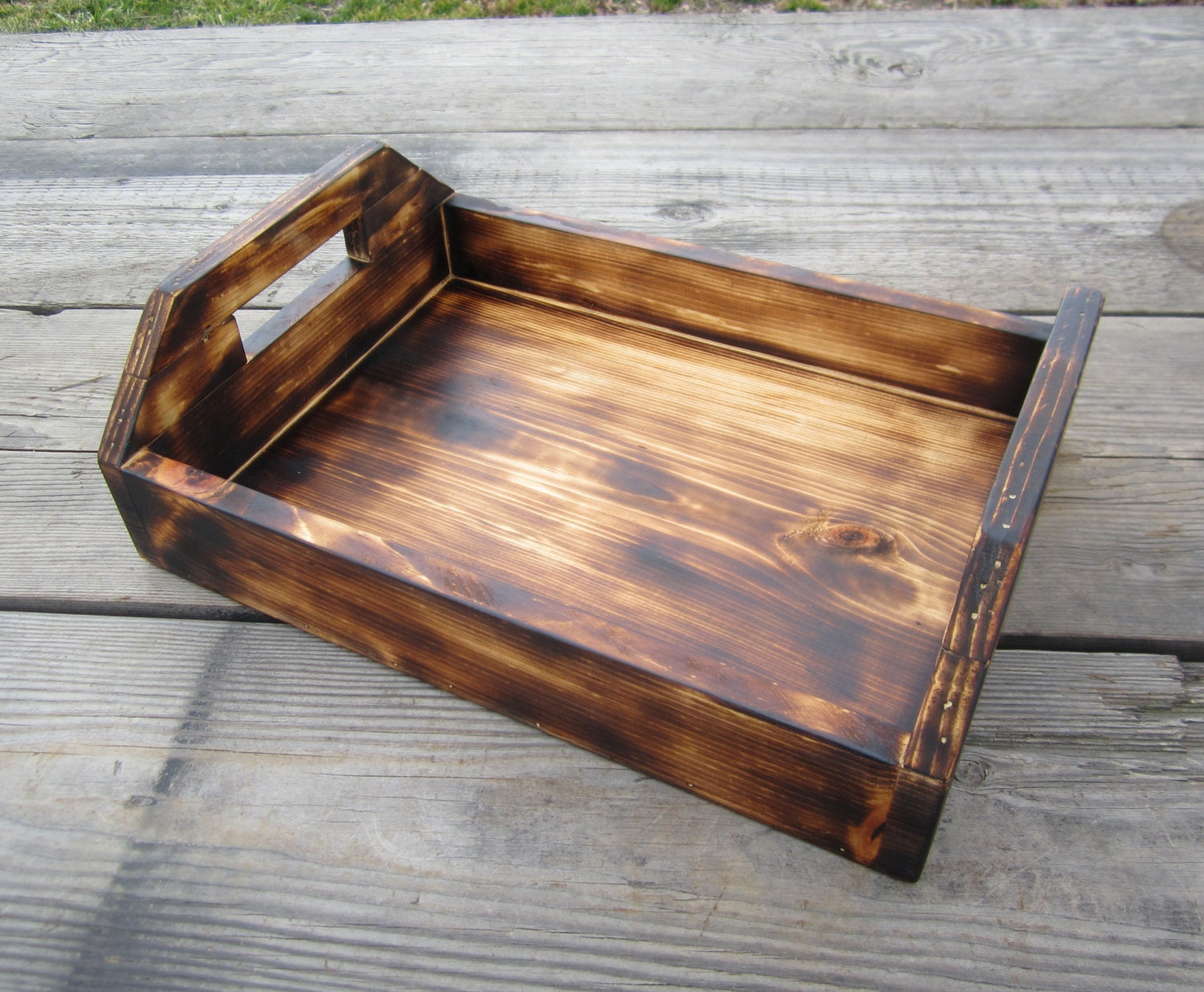 Rustic Kitchen Accessories Wood Serving Tray Rustic Kitchen Lodge Decor Country