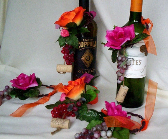 destination wedding decorations wine bottle toppers tropical. Black Bedroom Furniture Sets. Home Design Ideas