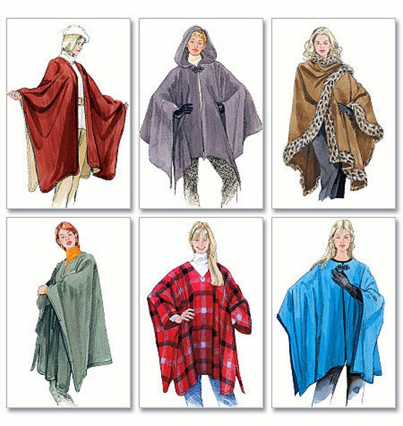womens sewing pdf pattern poncho style cape