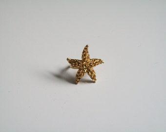 Gold Starfish Ring