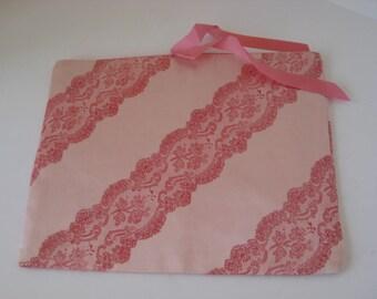 Schiaparelli  Lingerie Bag Pink Satin  Vintage Boudoir Beauty