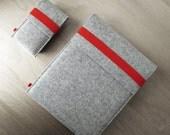 iPad sleeve and iPhone sleeve FELT DUETT wool felt set for iPad and iPhone or iPod touch