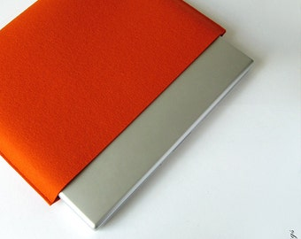 Macbook Pro felt sleeve 13 15 Macbook Pro felt case ORANGE PURIST
