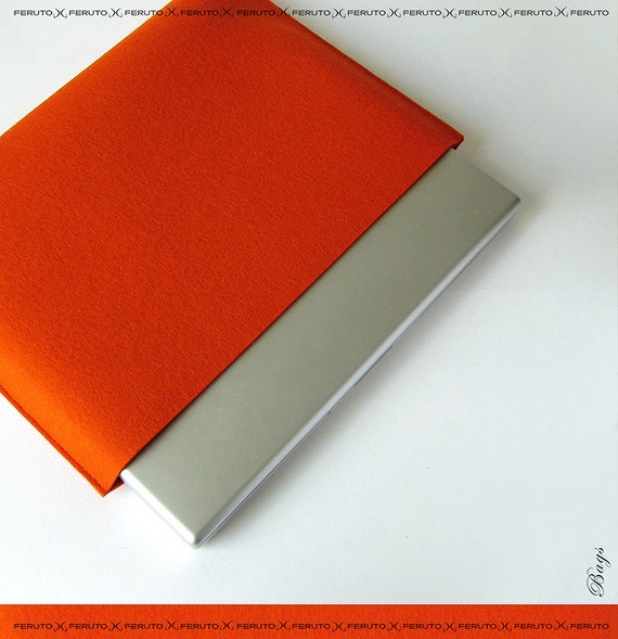 Macbook Pro felt sleeve 13 15 Macbook Pro felt case ORANGE PURIST