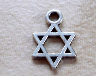 Star of David Charms  14mm size