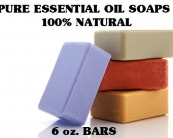 Essential Oil Soaps - 4 Bars - 6 oz. Bars - Vegan Soaps - Organic Soaps - All Natural - Glycerin Soaps -  Skin Products - Aromatherapy Soaps