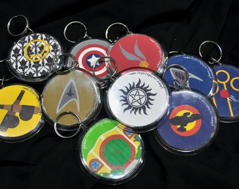 Fandom Key Chains - Multiple Designs Available