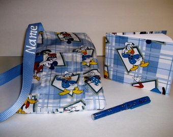 Disney Donald Duck autograph book bag with book, bag and pen and autograph book PERSONALIZED for FREE Adjustable strap