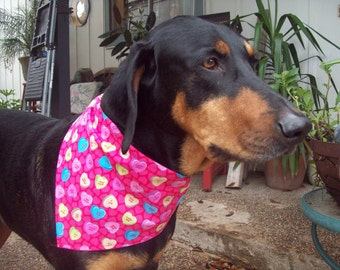 Happy Valentines Day-Dog Bandana- small and medium only