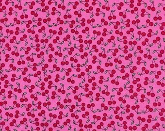 Timeless Treasures, Mini Cherries in Pink, 1 yard listing