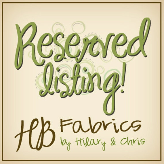 Reserved listing for kailochic...