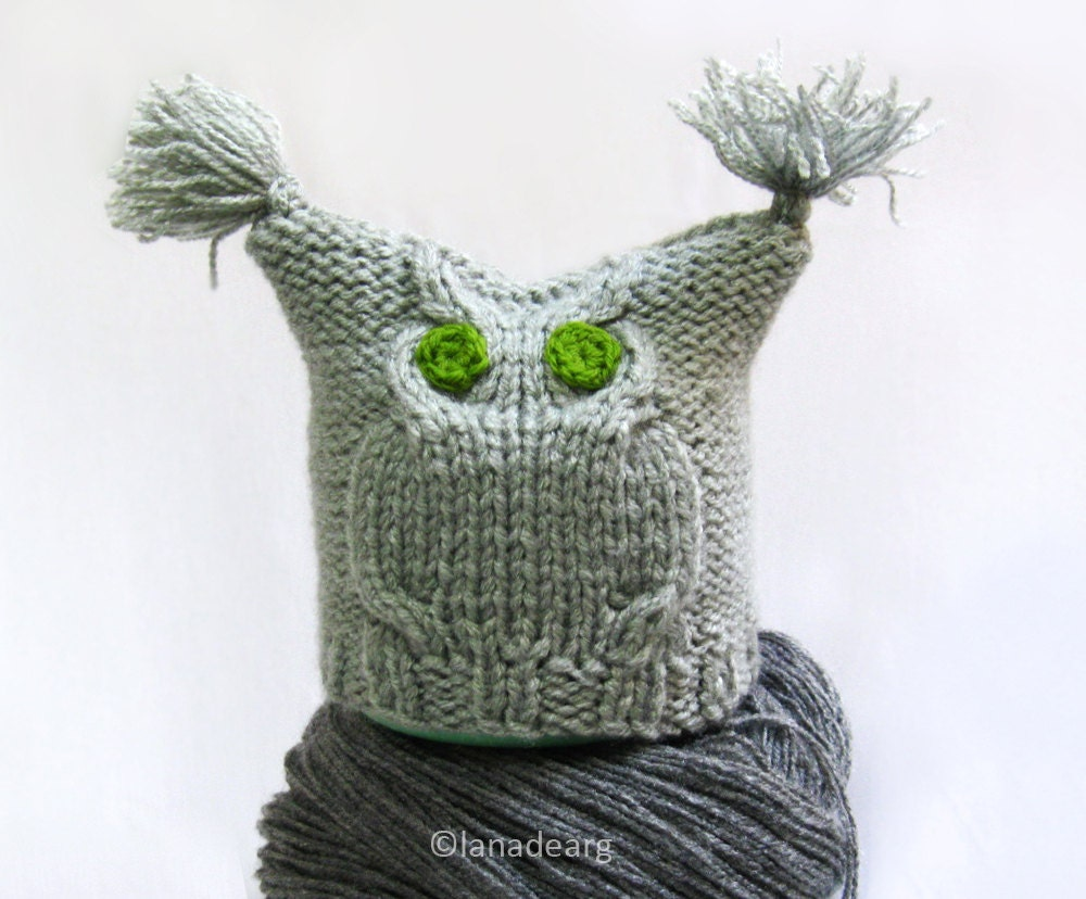 Knitted hat patterns owl hat baby hat knitting pattern baby boy this is a digital file bankloansurffo Image collections