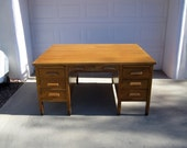 Antique Art and Crafts, Mission Style Oak Partners Desk - Offers Welcome!