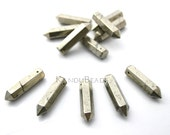 Pyrite point, Long Faceted Crystal Point, Pencil Shape, Obelisk Point Beads 8x32mm
