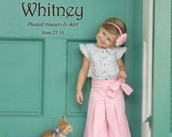 Violette Field Threads Sewing Pattern Whitney Pleated Trousers 2T-10 yrs