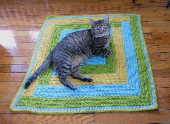 Crochet Pattern PDF Patchwork Cat Blanket