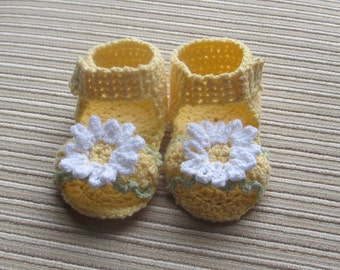 Crochet Pattern #102 Baby Girl Sandals 3-6 Months