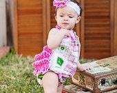 Little Deere Ruffle Bubble Romper Sunsuit Newborn - 4T even DOLL SIZES