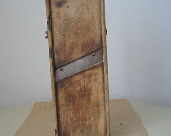 Vintage Mandolin Krauthobel Slicer Wood Kitchen Tool
