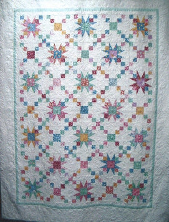 Old Fashioned Star Quilt Pattern Patchwork By
