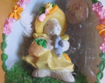 Vintage Bear Hoppy VanderBear Collector Egg Easter Fantasy Vintage Sugar Egg