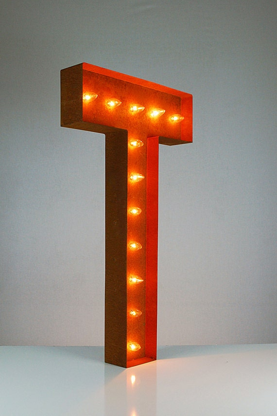Free shipping sale vintage marquee lights by for Light letters for sale